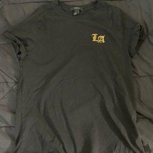 Black Forever 21 Short Sleeve Tee w/ LA logo Large